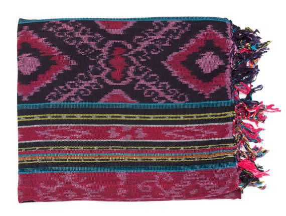 Indonesian Ikat Blanket by WorldwideTextiles on Etsy