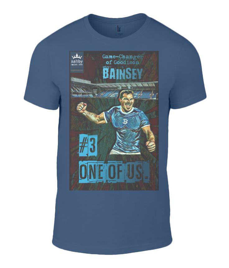 Everton FC Leighton Baines Premium T-Shirt Mens hand illustrated as a superhero #everton #footballtshirt