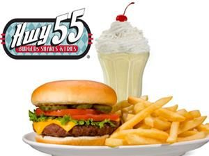Hwy 55 Burgers & Shakes! $20 to spend on #burgers and #shakes