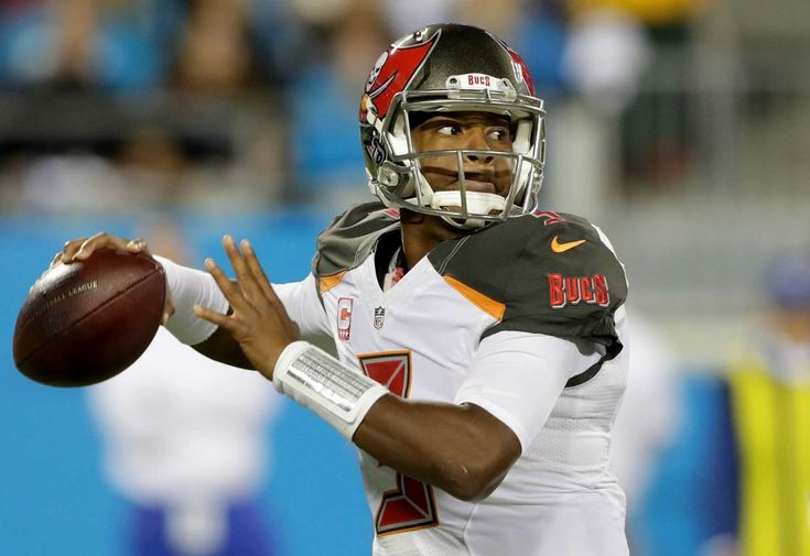 Monday Night Football: Buccaneers vs. Panthers:     October 10, 2016, 17-14, Buccaneers  -     Jameis Winston of the Tampa Bay Buccaneers throws a pass against the Carolina Panthers in the second quarter during their game at Bank of America Stadium on Oct. 10, 2016 in Charlotte, N.C.