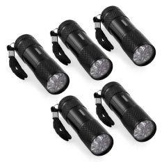 ไฟฉาย UV Ultra Violet Blacklight 9 LED Flashlight Torch Light Lamp Outdoors 5 ชิ้น