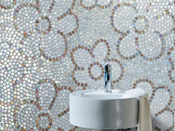 Glass Mosaic with iridescent surface NEOGLASS by Sicis