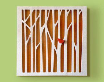 """Quadretto in legno per camerette """"Foresta"""" - realizzato a mano da MAMM Progetti"""