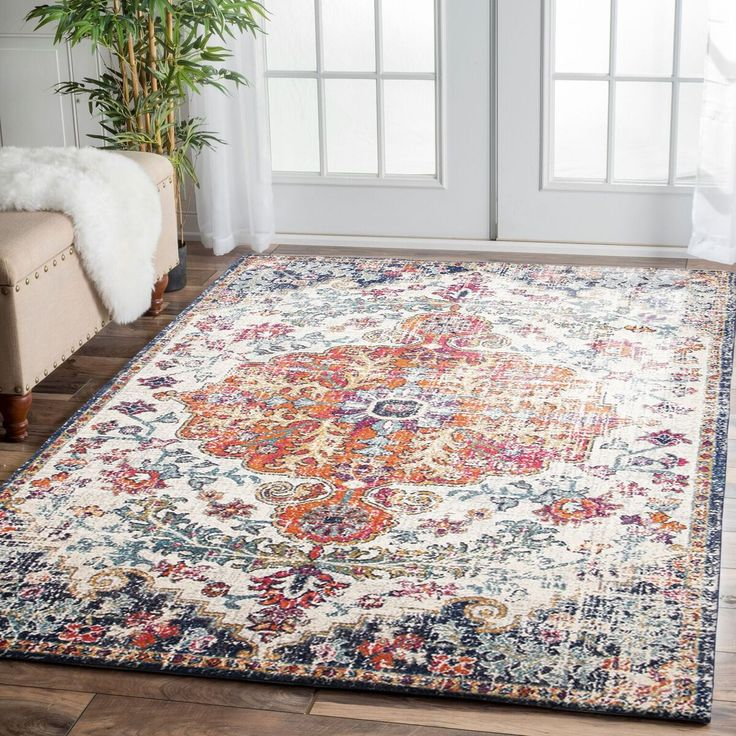 This gorgeous transitional rug is now back in stock in all sizes: Murias Transitional Multi Coloured Designer Rug