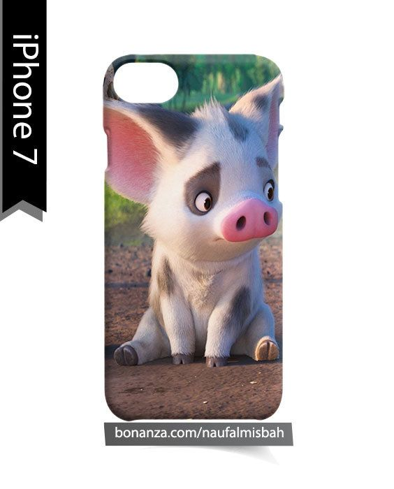 Moana Pig Pua Sitting iPhone 7 Case Cover Wrap Around
