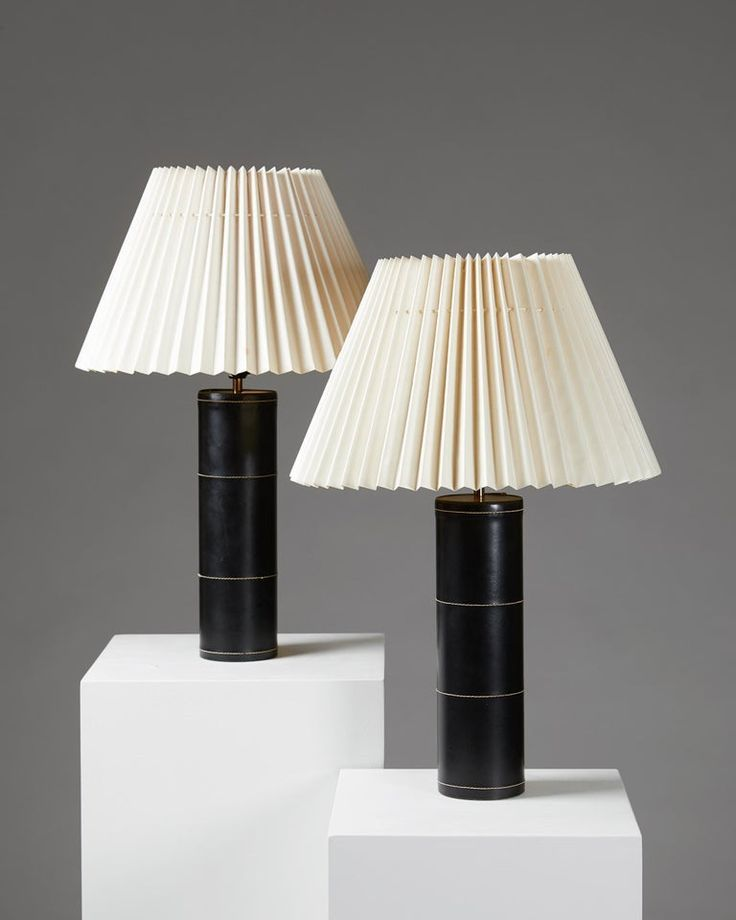 Pair Of Table Lamps B 071 Anonymous For Bergboms Sweden 1950s Table Lamp Contemporary Floor Lamps Brass Table Lamps