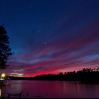 Alabama sunset over the black warrior river.