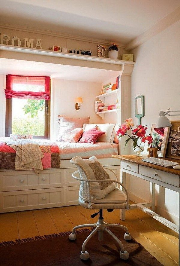 Ideas For Small Teenage Girl Bedrooms Part - 27: Nice Room For A Teenager. Small Teen Girlsu0027 Bedroom Design With Style.