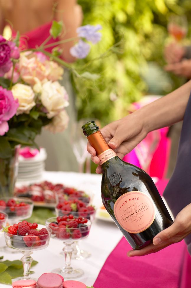 Celebrate in style with Laurent-Perrier rosé champagne.