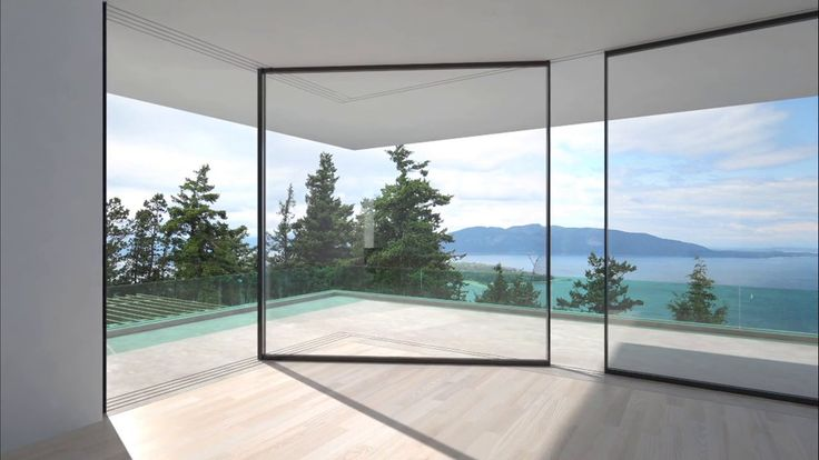 Turnable Corner Window System by Vitrocsa. The innovative window system panels independently slide around corners and cleverly hide their structure to reveal panoramas.