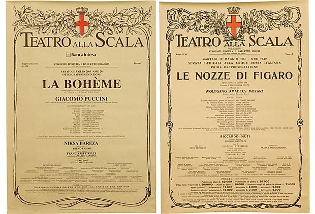 Posters, La Boheme & Le Nozze di Figaro on OneKingsLane.com