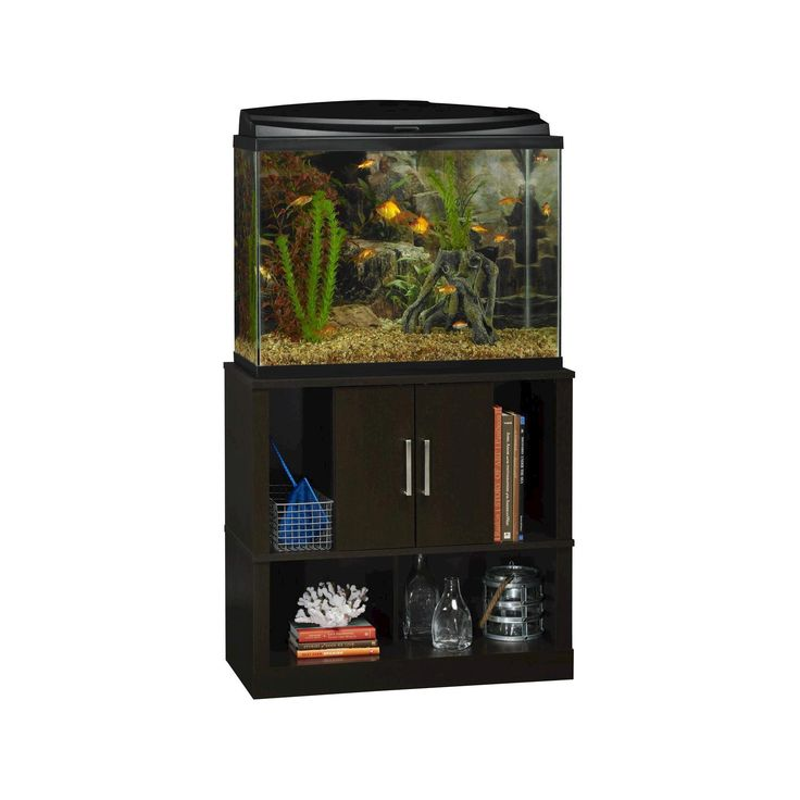 Laguna Tide 29-37 Gallon Aquarium Stand - Black Forest - Altra, Brown