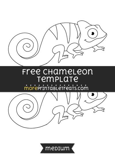 Free chameleon template medium shapes and templates for Eric carle chameleon template