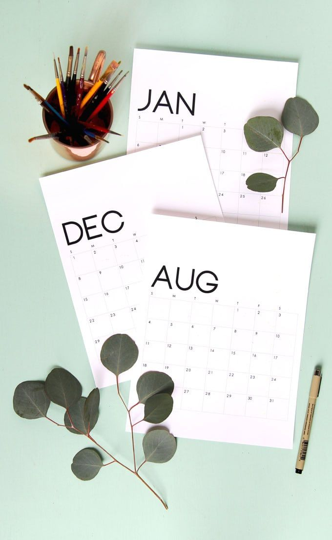 Beautiful Floral 2019 Calendar  Monthly Planner {Free Printables