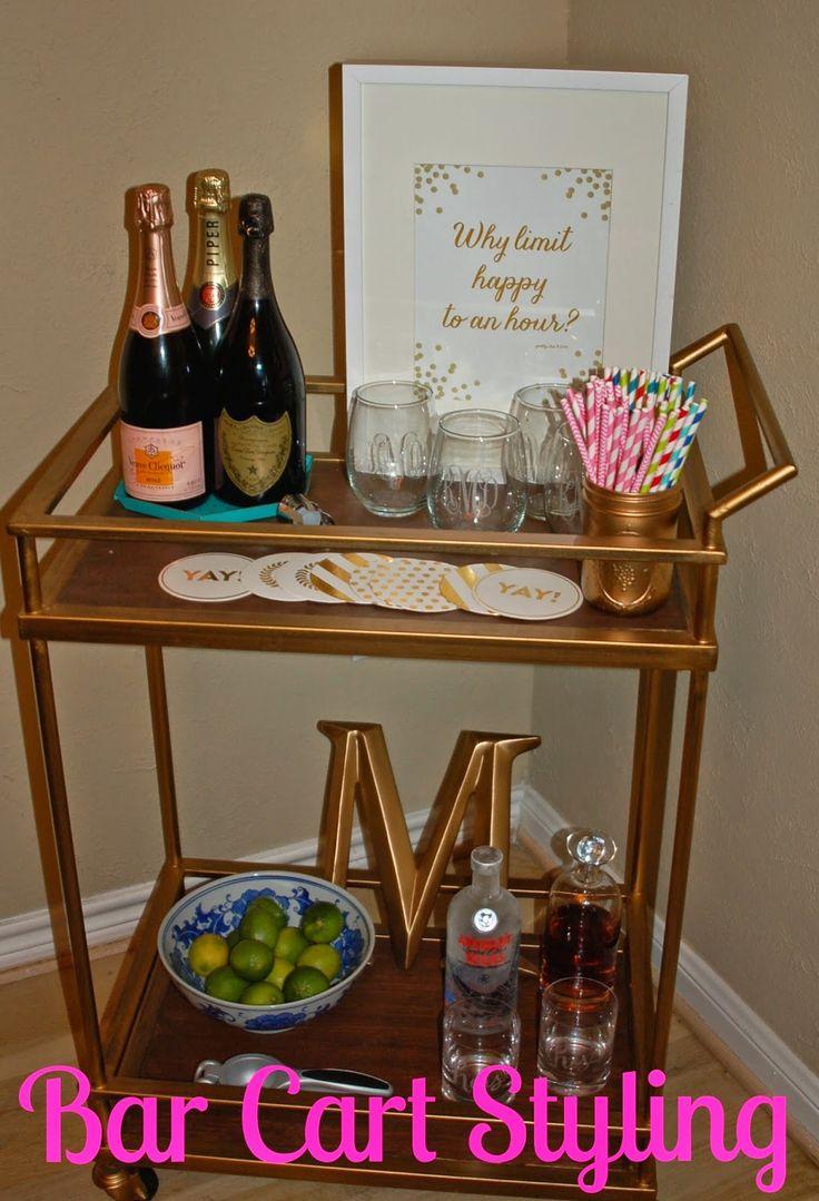 Bar Cart Styling- Champagneista