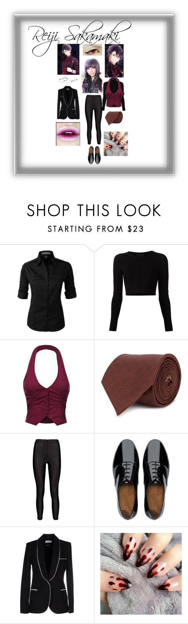 """""""Diabolik Lovers """"Reiji """""""" by lovelyseoul784 on Polyvore featuring Cushnie Et Ochs, Gucci, FitFlop and Étoile Isabel Marant"""