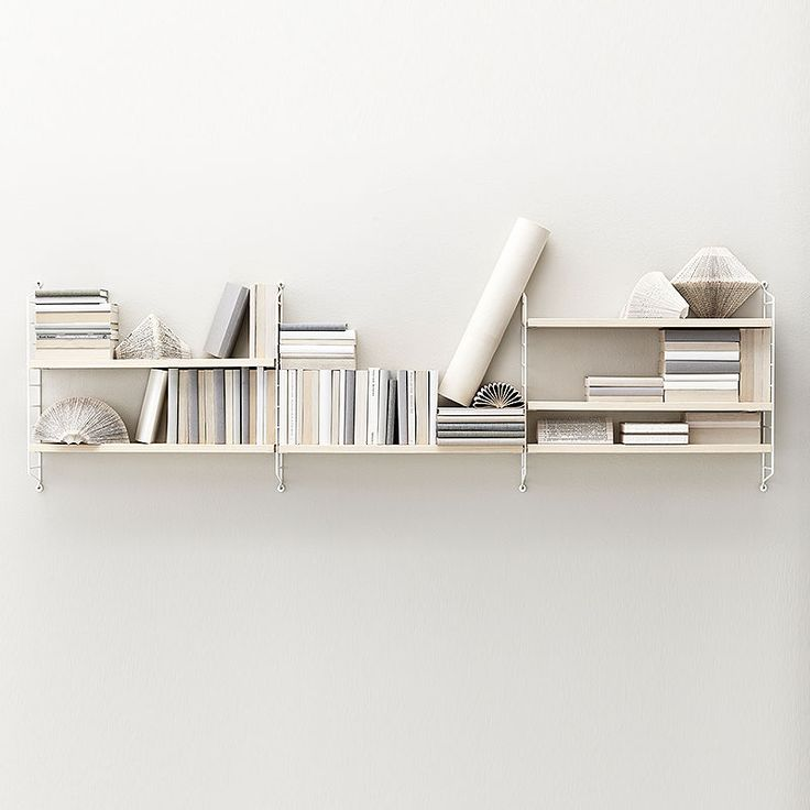 top3 by design - String - string pocket ash shelves white