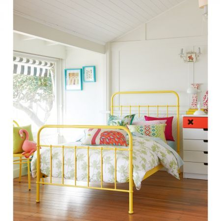 sunday sunshine yellow bed frame domayne online store