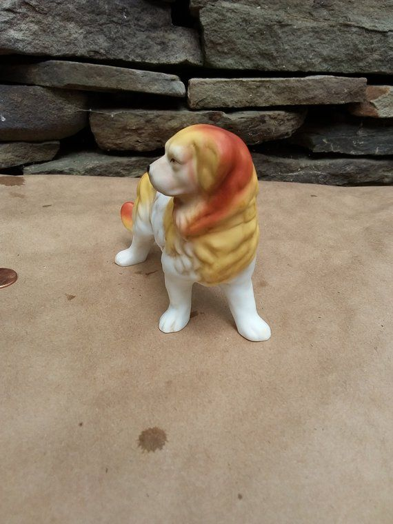Vintage Golden Retriever Porcelain Golden Retriever Dog Figurine