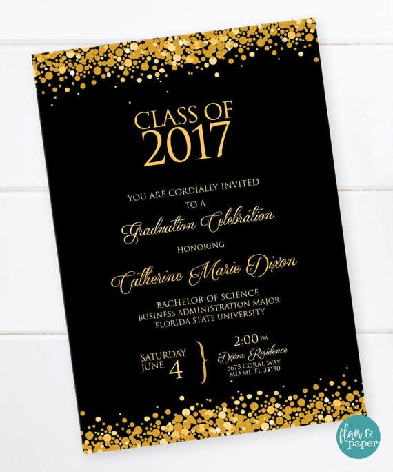 Best Invites For Halle Images On   Graduation Parties