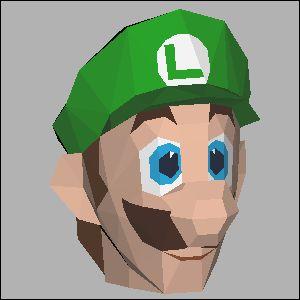 ルイージの展開図 似顔絵 無料 ダウンロード ペーパークラフトファン