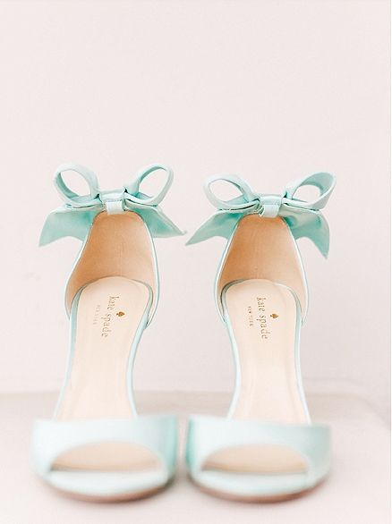 kate spade something blue wedding shoes!  ~  we ❤ this! moncheribridals.com