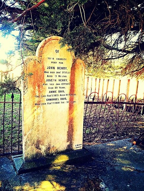 The grave of two of my Portuguese ancestors -Annie Dais, died February 1, 1885 aged 14 months and Emmanuel Dais, died February 7, 1881 aged 37 years. Located at Turakina,  New Zealand. Photo by Kylie Wetherall