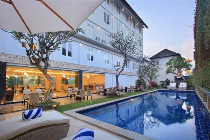 OopsnewsHotels - Mars City Hotel. Located in Denpasar, Mars City Hotel is within a 20-minute drive of Ngurah Rai International Airport and offers an outdoor pool. The numerous amenities this modern hotel has to offer include a kids club, an executive floor and valet parking.   This 4-star hotel provides 24-hour room service, a sun deck and a coffee bar. It has babysitting services, a currency exchange and a reception that is available 24/7.