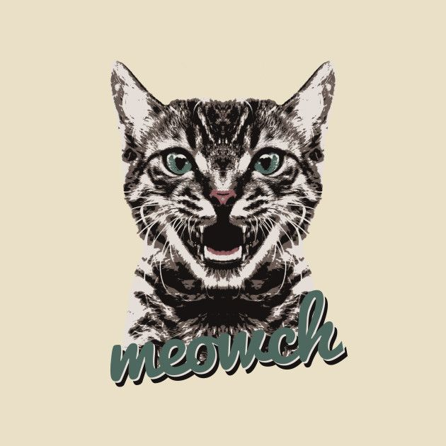 Check out this awesome 'Meowch%21' design on @TeePublic!