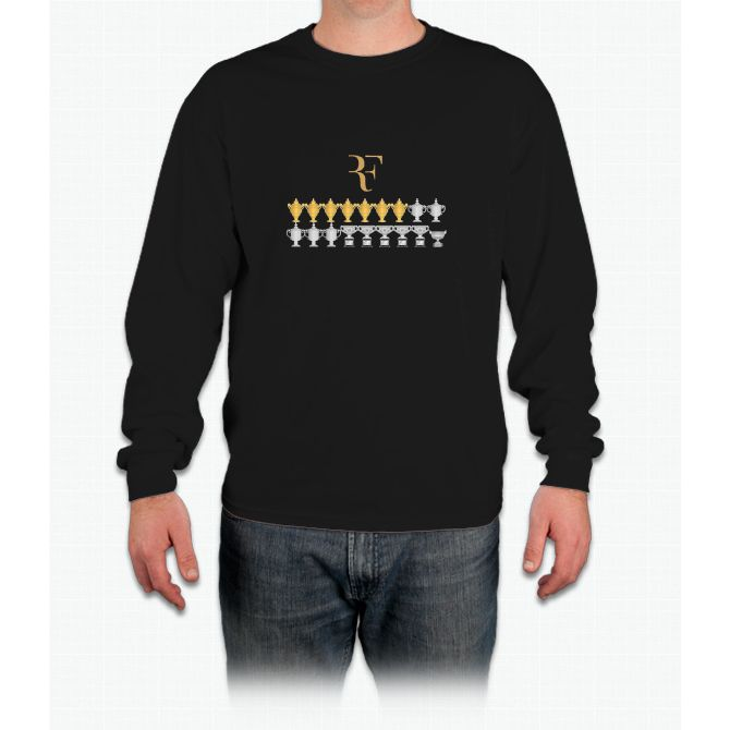 Roger Federer - 18 Grand Slams Long Sleeve T-Shirt