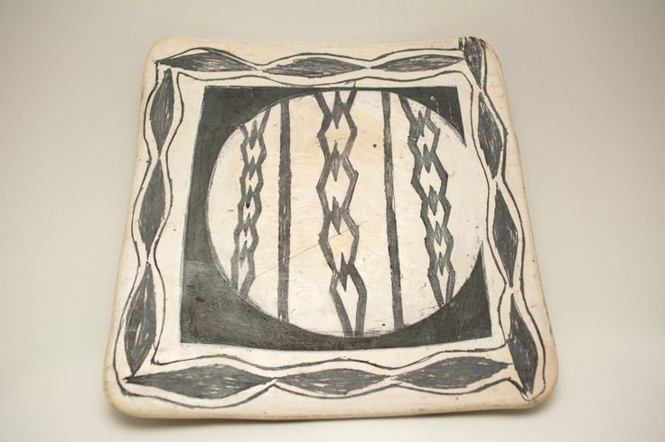 Vintage Handcrafted African Pottery Plate 3 of 5 by ProjectThisAndThat on Etsy
