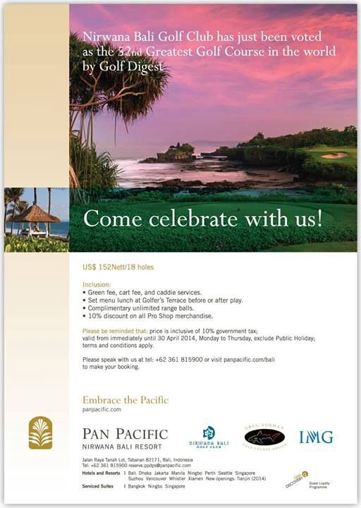 Our #Golf Course named one of the World's 100 Greatest Golf Courses by Golf Digest. #Bali #Top100 #GolfDigest
