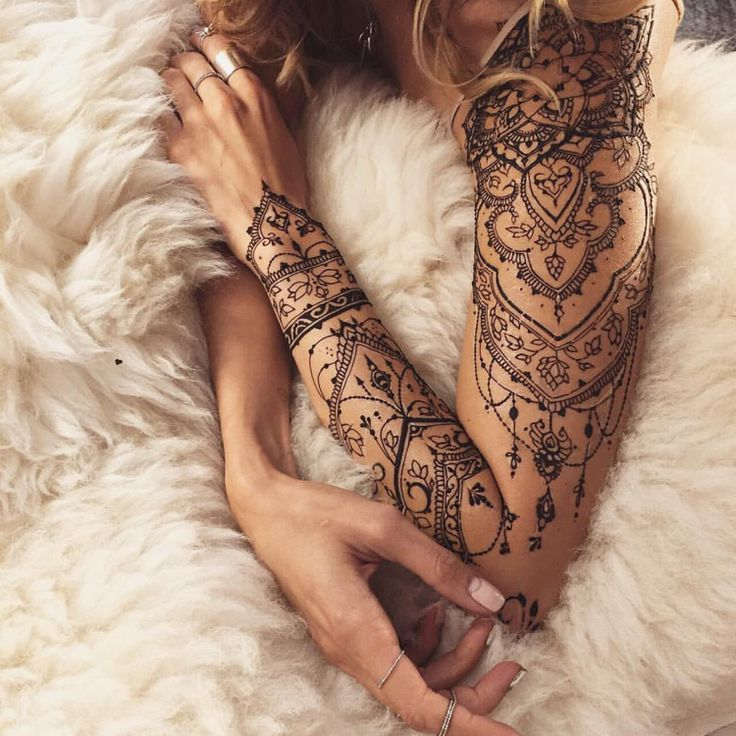 henna tattoo itself-make-shoulder-arm -…