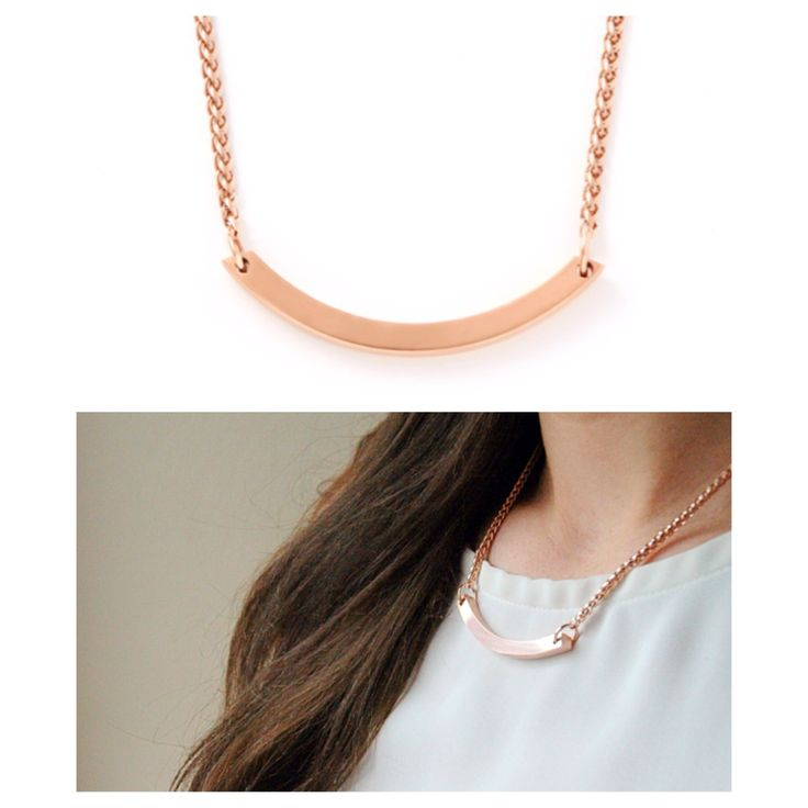 ARC necklace in Rose Gold Handmade in Toronto, Canada #Jewelry #Necklace #Gold #Minimal #Fashion #Modern #RoseGold
