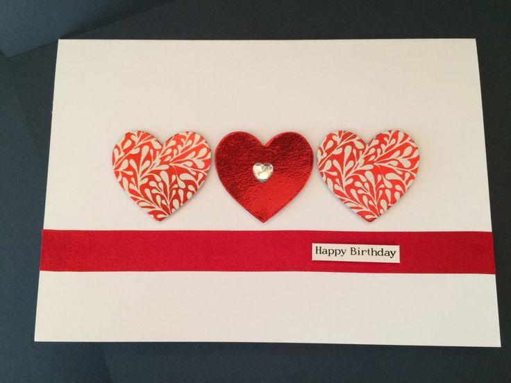 Heart Birthday Card by CatkinsCrafts on Etsy