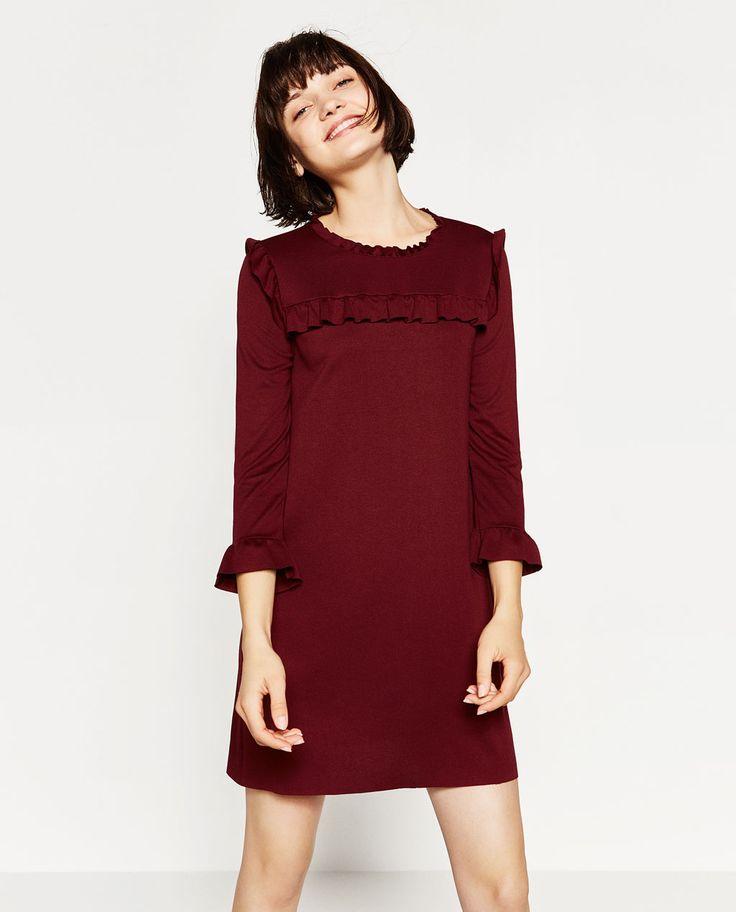 A-LINE DRESS WITH FRILLS-TRENDING NOW-WOMAN | ZARA United Kingdom