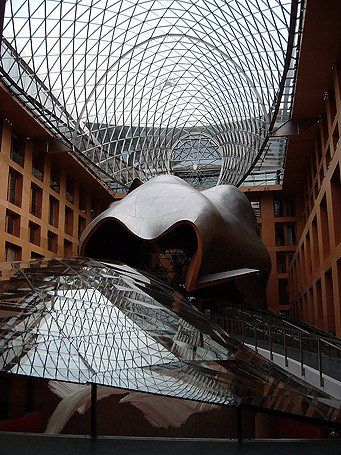 Architecture DZ Bank, Berlino, Germany, Gehry Partners LLP #architecture