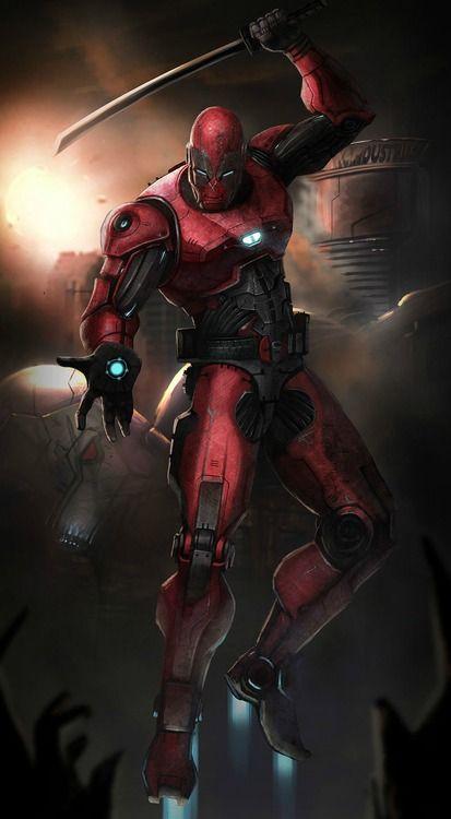 Deadpool x Iron Man by Saad Irfan