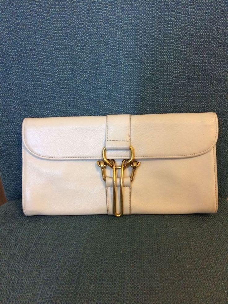 Bonnie Cashin Carry Coach Clutch Vintage Rare Cream Plaid Interior Kisslock #Coach #Clutch