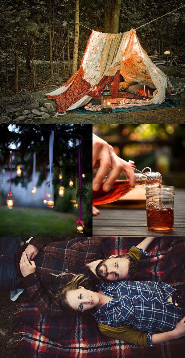 Bedsheet Tent Romance #camping #backyard #love