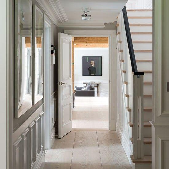 Traditional Pale Neutral Hallway Traditional Hallways