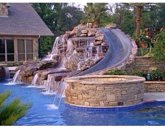 Pool slide!!