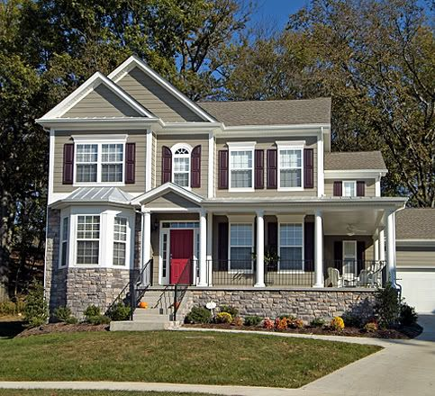 Red Door Grey House 12 best new house- exterior color ideas images on pinterest | red