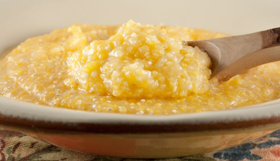 Organic Heirloom Buttered Corn Grits Grits courtesy of Anson Mills, millers of traditional antebellum grains