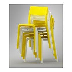 IKEA - JANINGE, Sedia, Puoi impilare le sedie, così occupano meno spazio quando non le usi.La sedia è già montata, quindi puoi usarla subito.