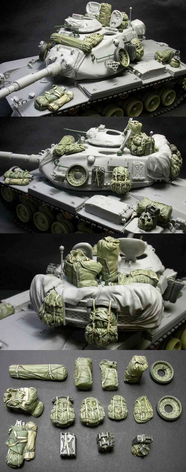 1/35 resincast model U.S. M60A1/A3 Stowage & Accessory