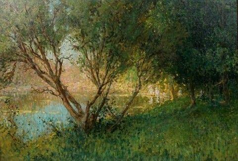 Pierre Eugene Montezin 1874-1846, Riverscape