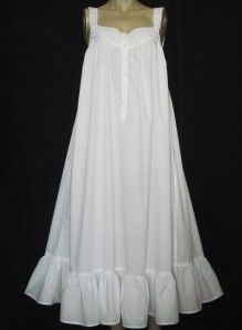 victoria's secret cotton nightgown | Vtg VICTORIA'S SECRET LONG WHITE COTTON LAWN NIGHTGOWN~PRINCESS GOWN ...