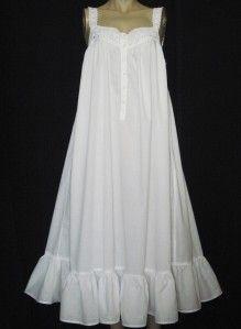 victoria's secret cotton nightgown | Vtg VICTORIA'S SECRET LONG WHITE COTTON LAWN NIGHTGOWN~PRINCESS GOWN ...