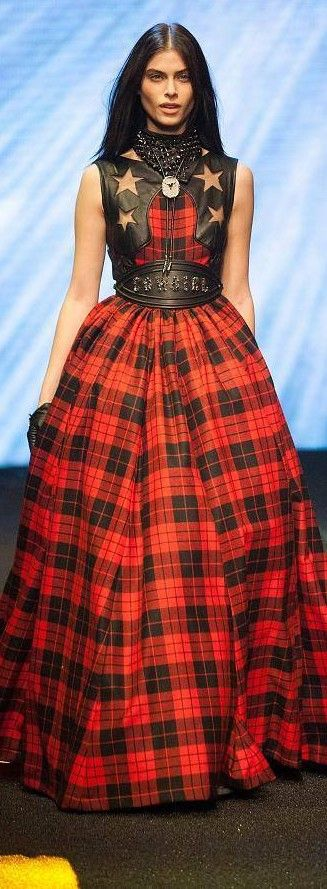 Philip Plein - Fall 2014 | The House of Beccaria# Wow Wow Wow - Tartan is back
